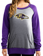 "Baltimore Ravens Women's Majestic NFL ""O.T. Queen"" French Terry Sweatshirt"