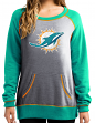 "Miami Dolphins Women's Majestic NFL ""O.T. Queen"" French Terry Sweatshirt"
