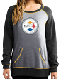 "Pittsburgh Steelers Women's Majestic NFL ""O.T. Queen"" French Terry Sweatshirt"