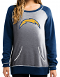 """San Diego Chargers Women's Majestic NFL """"O.T. Queen"""" French Terry Sweatshirt"""