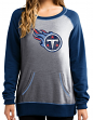 """Tennessee Titans Women's Majestic NFL """"O.T. Queen"""" French Terry Sweatshirt"""