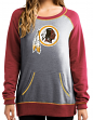 "Washington Redskins Women's Majestic NFL ""O.T. Queen"" French Terry Sweatshirt"