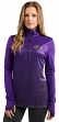 "Baltimore Ravens Women's Majestic NFL ""Play"" 1/2 Zip Synthetic Pullover Shirt"