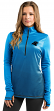 "Carolina Panthers Women's Majestic NFL ""Play"" 1/2 Zip Synthetic Pullover Shirt"