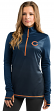 "Chicago Bears Women's Majestic NFL ""Play"" 1/2 Zip Synthetic Pullover Shirt"