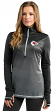 """Kansas City Chiefs Women's Majestic NFL """"Play"""" 1/2 Zip Synthetic Pullover Shirt"""