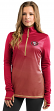 "San Francisco 49ers Women's Majestic NFL ""Play"" 1/2 Zip Synthetic Pullover Shirt"