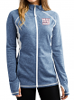 "New York Giants Women's Majestic NFL ""Club Pass"" Full Zip Sweatshirt"