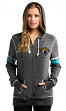 "Jacksonville Jaguars Women's Majestic NFL ""Athletic"" Full Zip Hooded Sweatshirt"