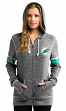"Miami Dolphins Women's Majestic NFL ""Athletic"" Full Zip Hooded Sweatshirt"