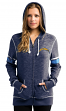 "San Diego Chargers Women's Majestic NFL ""Athletic"" Full Zip Hooded Sweatshirt"