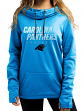 "Carolina Panthers Women's Majestic NFL ""Speed Fly"" Cowl Neck Hooded Sweatshirt"