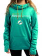 "Miami Dolphins Women's Majestic NFL ""Speed Fly"" Cowl Neck Hooded Sweatshirt"