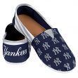 New York Yankees Women's MLB Slip On Canvas Stripe Shoe Slippers