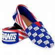 New York Giants Women's NFL Slip On Canvas Stripe Shoe Slippers