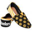 Pittsburgh Steelers Women's NFL Slip On Canvas Stripe Shoe Slippers