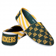 Green Bay Packers Women's NFL Slip On Canvas Stripe Shoe Slippers