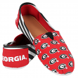 Georgia Bulldogs Women's NCAA Slip On Canvas Stripe Shoe Slippers