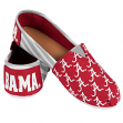 Alabama Crimson Tide Women's NCAA Slip On Canvas Stripe Shoe Slippers