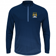 "Manchester City FC Majestic ""Intimidating"" 1/2 Zip Mock Neck Pullover Shirt"
