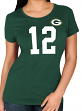 "Aaron Rodgers Green Bay Packers Women's Majestic NFL ""Fair Catch"" T-Shirt"