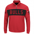 "Chicago Bulls Majestic NBA ""Limelight"" 1/4 Zip Mock Neck Pullover Sweatshirt"