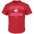 "Atlanta Hawks Majestic NBA ""Heart & Soul"" Men's Red Short Sleeve T-Shirt"