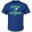 "Dallas Mavericks Majestic NBA ""Heart & Soul"" Men's Blue Short Sleeve T-Shirt"