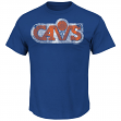 "Cleveland Cavaliers Majestic NBA Throwback ""Post Up"" Men's T-Shirt"