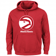 "Atlanta Hawks Majestic NBA ""Felt Tek Patch"" Men's Hooded Pullover Sweatshirt"