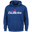 Washington Bullets Majestic NBA Felt Tek Patch Men's Hooded Pullover Sweatshirt