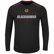 "Chicago Blackhawks Majestic NHL ""Quick Whistle"" Men's L/S Cool Base Shirt"