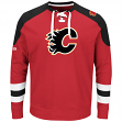 "Calgary Flames Majestic NHL ""Centre"" Men's Pullover Crew Sweatshirt"