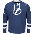 "Tampa Bay Lightning Majestic NHL ""Centre"" Men's Pullover Crew Sweatshirt"