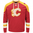 "Calgary Flames Majestic NHL ""Vintage Centre"" Men's Pullover Crew Sweatshirt"