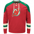 "New Jersey Devils Majestic NHL ""Vintage Centre"" Men's Pullover Crew Sweatshirt"