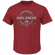 "Colorado Avalanche Majestic NHL ""Clearing the Puck"" Short Sleeve Men's T-Shirt"
