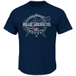 Columbus Blue Jackets Majestic NHL Clearing the Puck Short Sleeve Men's T-Shirt