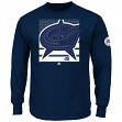 "Columbus Blue Jackets Majestic NHL ""Slashing"" Long Sleeve Men's T-Shirt"