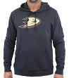 "Anaheim Ducks Majestic ""Felt Tek Patch"" Men's Black Hooded Sweatshirt"