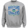 "Hartford Whalers Majestic NHL ""Classic Ice"" Men's Pullover Crew Sweatshirt"