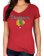 "Chicago Blackhawks Women's Majestic NHL ""Match Penalty"" V-neck T-Shirt"