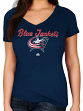 "Columbus Blue Jackets Women's Majestic NHL ""Match Penalty"" V-neck T-Shirt"