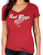 "Detroit Red Wings Women's Majestic NHL ""Match Penalty"" V-neck T-Shirt"