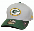 Green Bay Packers New Era NFL 39THIRTY Performance Gray Flex Fit Hat