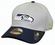 Seattle Seahawks New Era NFL 39THIRTY Performance Gray Flex Fit Hat