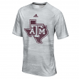Texas A&M Aggies Adidas 2016 Sideline Climalite S/S Training Shirt - Gray