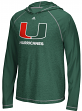 "Miami Hurricanes Adidas NCAA ""Loyal"" Men's L/S Hooded Climalite Shirt"