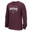 "Mississippi State Bulldogs Adidas NCAA ""School Logo"" Men's Long Sleeve T-shirt"