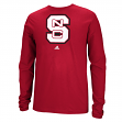 North Carolina State Wolfpack Adidas NCAA School Logo Men's Long Sleeve T-shirt